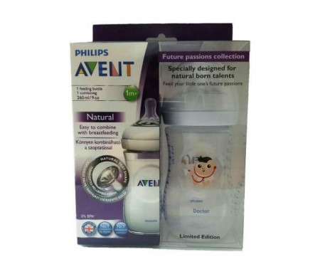 Avent flasica 260ml natural- doctor,chef, fashion icon ( 6647480/70/60 )