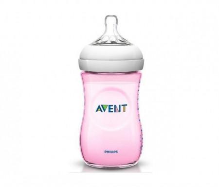 Avent flašica natural 260ml roza 4424 ( SCF694/17 )