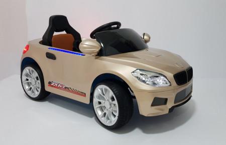 Slika BMW 2 Auto na akumulator sa kožnim sedištem i mekim gumama - Zlatni