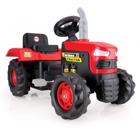 Slika Dolu Traktor na pedale crno-crveni ( 080509 )