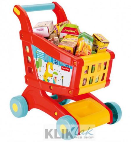 Slika Fisher Price Kolica za kupovinu + set igračaka ( 018069 )