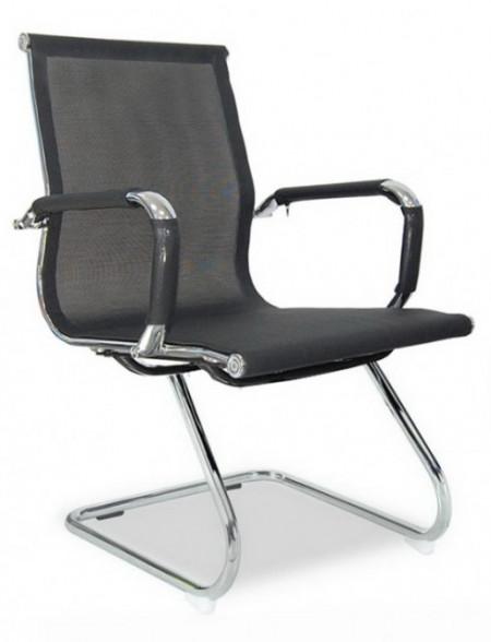 Slika Konferencijska stolica BOB MESH CLUB od mesh platna - Crna