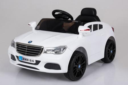 Slika Mercedes XMX 816 Auto na akumulator sa kožnim sedištem i mekim gumama - Beli