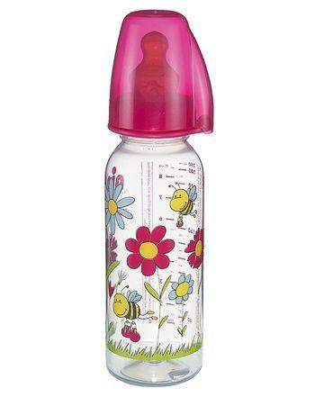 Nip PP flašica Family Girl 250 ml sa kaučukom za mleko 6+ ( A022320 )