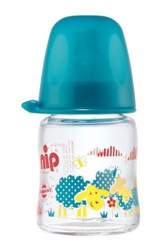 Nip staklena flašica sa širokom otvorom 0m+ 120ml plava ( 0190136 )