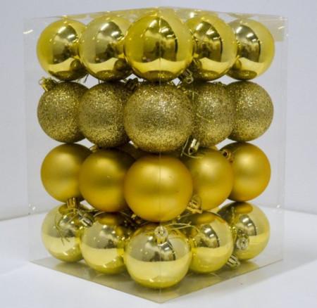 Slika Novogodišnji set ukrasnih kuglica 36kom - Zlatni ( 19002 )