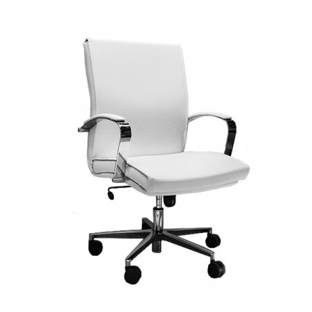 Slika Radna Fotelja niska - Nero M lux (prava koža) - izbor boje kože