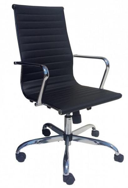 Slika Radna stolica - PRESTON (eko koža crna)