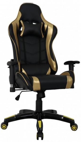 Slika Stolica za gejmere - Ultra Gamer (zlatno - crna)