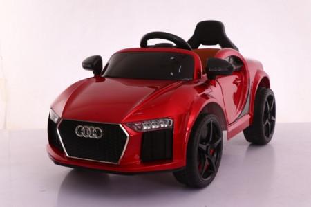 Slika Audi MIni Auto na akumulator sa kožnim sedištem i mekim gumama - Crveni