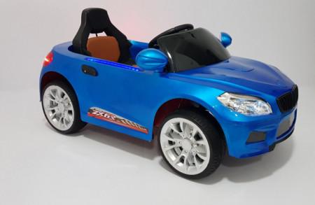 Slika BMW 2 Auto na akumulator sa kožnim sedištem i mekim gumama - Plavi
