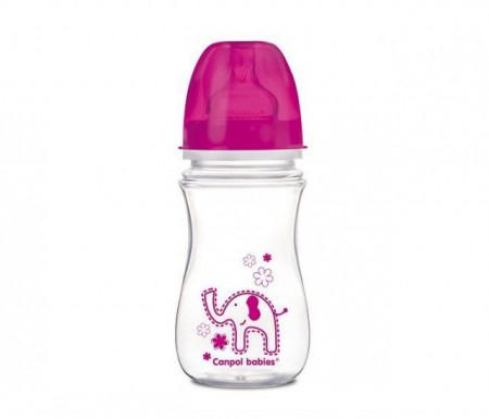Canpol flašica široki vrat antikolik easy start colorful animals 240ml ( 35/206 )