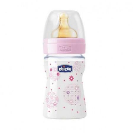 Chicco PP flašica Giotto cucla od kaučuka za devojčice 150 ml ( 4201218 )