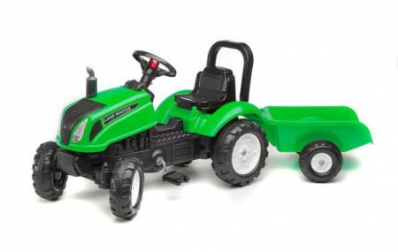 Slika Falk Toys Traktor Land Master sa prikolicom - zeleni ( 3083ad )