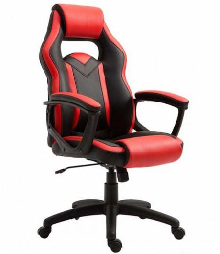 Gejmerska stolica 2325 od eko kože Crno-crvena