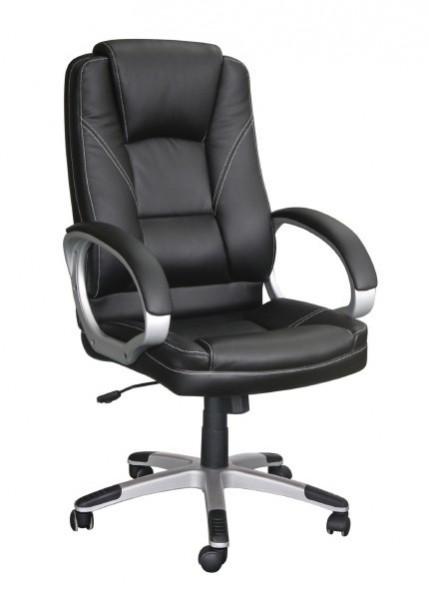 Slika Kancelarijska fotelja 6158 od eko kože - Crna