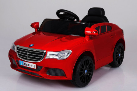 Slika Mercedes XMX 816 Auto na akumulator sa kožnim sedištem i mekim gumama - Crveni