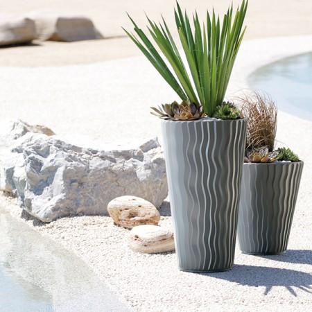 Prosperplast saksija sandy slim 30x52cm kameno siva ( PR DPSP300-405U )