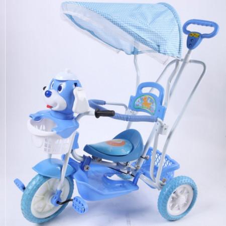 Slika Tricikl za decu -  Plava Kuca - tapacirano sedište ( 390390 )