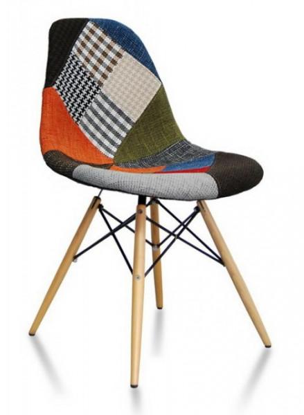Slika Trpezarijska stolica CHARLIE PATCHWORK - Štof