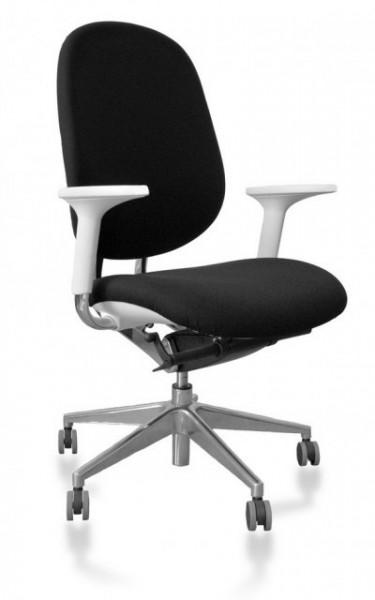Slika Kancelarijska stolica REED od mikrofibera Crno-bela