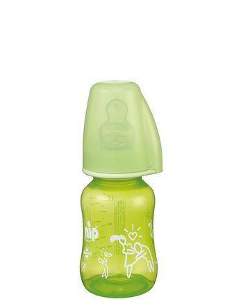 Nip PP flašica Trendy Unisex 125 ml sa silikonskom cuclom za čaj 0-6 ( 7100092 )