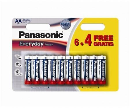 Slika Panasonic LR6EPS/10BW-AA 10 kom 6+4F Alkalne Ever baterije ( 023906351 )