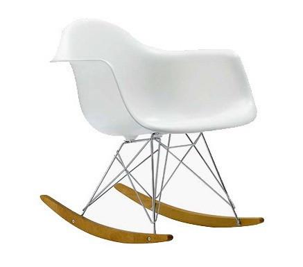 Slika Plastična stolica na ljuljanje SEM SWING - Bela