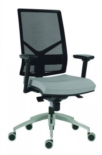 Slika Radna stolica - 1850 Omnia ALU (mreža + eko koža u više boja)