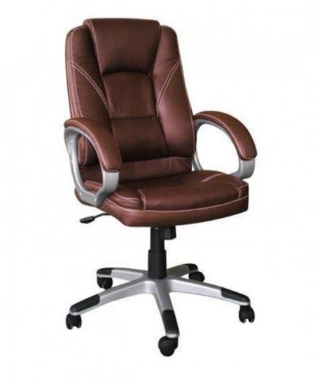Slika Kancelarijska fotelja 6158 od eko kože - Braon