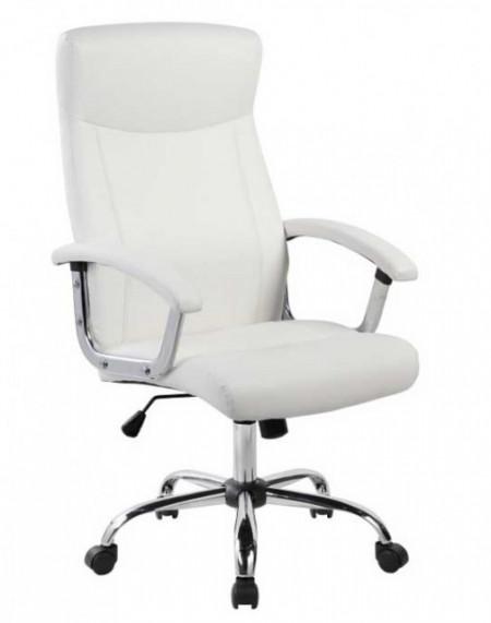 Slika Kancelarijska fotelja 9343H od eko kože - Bela