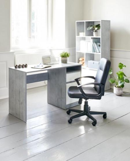 Slika Kancelarijska Radna Fotelja Nimtofte - veštačka koža - Crna