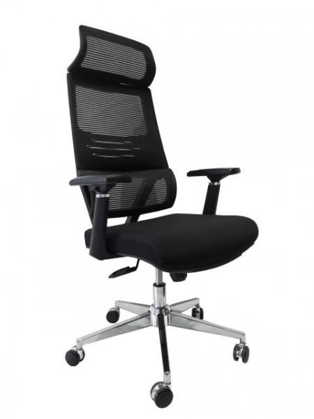 Slika Kancelarijska stolica FA-6080 od mesh platna - Crna