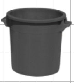 Slika Kanta 50 l bez poklopca - crna