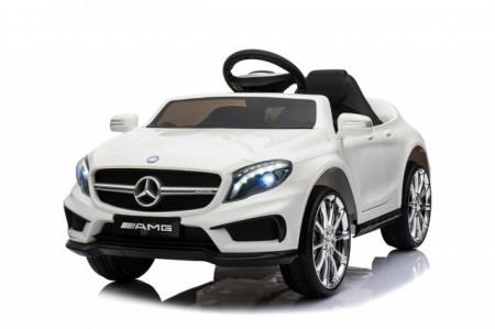 Slika Mercedes GLA 45 AMG Licencirani auto za decu na akumulator sa kožnim sedištem i mekim gumama - Beli