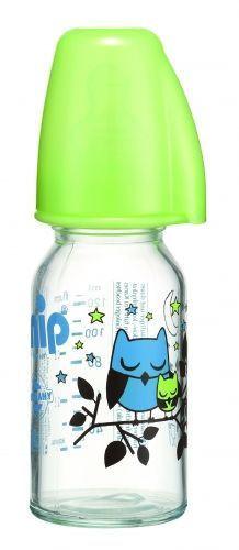 Nip flašica staklena 125ml sa silikonskom cuclom za čaj 0m+ ( A001259 )