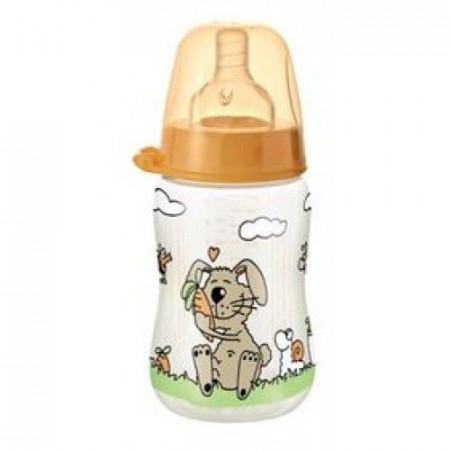 Nip PP flašica Family Unisex 125 ml sa kaučuk cuclom za čaj 0-6 ( 7100084 )