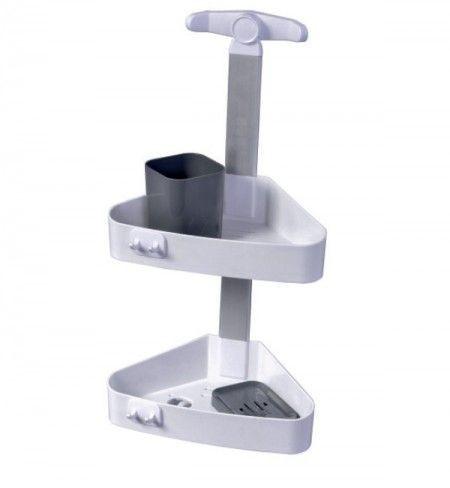 Slika Pelikan Set za tuširanje - plastičan (ugaoni), belo-antracit sivo ( 70110 )