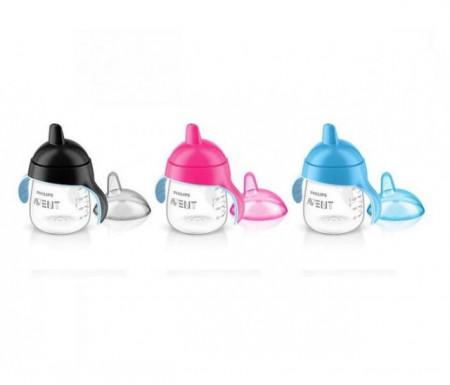Philips Avent premium magicna šolja 260ml crna, plava, roze ( SCF753/00 )