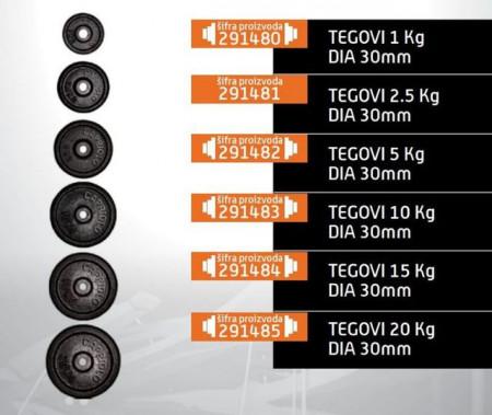 Slika Capriolo teg čelik 15kg 30mm derex ( 291484 )