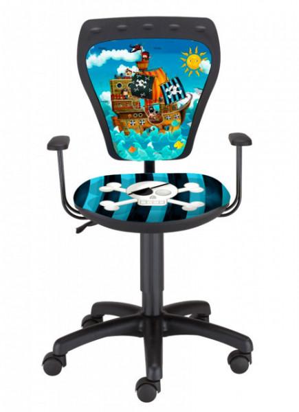 Dečija daktilo stolica Ministyle TS22 GTP28-BL pirate SH