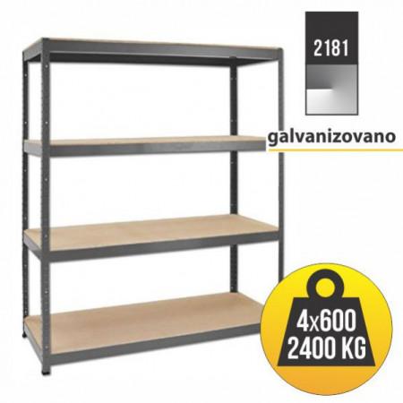Heavy rack Polica metal-medijapan 177x160x60cm ( 2181 )