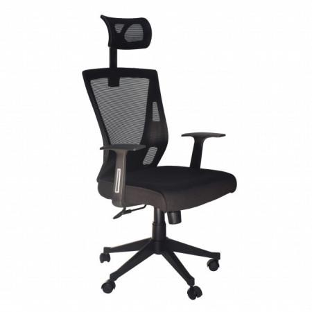 Slika Kancelarijska radna stolica FA-672 od mesh platna - Crna