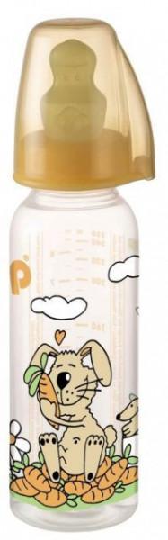 Nip PP flašica Family Unisex 250 ml sa kaučuk cuclom za mleko 0-6 ( 7100085 )