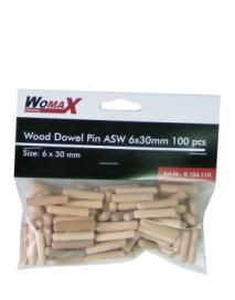 Womax tipla drvena ASW 6x30mm 100 kom ( 0104110 )