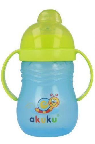 Akuku čaša 280ml sa silikonskim piskom no-spill 4m+ ( 0290033 )