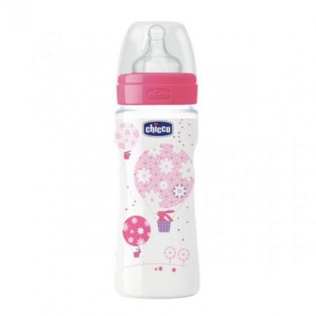 Chicco PP flašica Giotto cucla od silikona za devojčice 330 ml ( 4201223 )