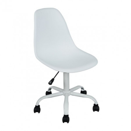 Slika Daktilo stolica CL14-91 metalna baza - visoki sjaj - Bela