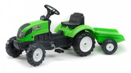 Slika Falk Garden Master Traktor na pedale sa prikolicom 2057J - Zeleni