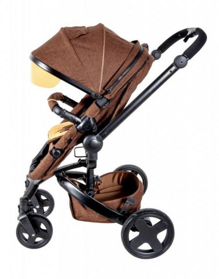 Slika Kolica za bebe 2 u 1 Latitude rotirajuća 360 stepeni - Braon
